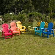 Patio Furniture Made From Recycled Plastic Milk Jugs Polywood Long Island Recycled Plastic Adirondack Chair Hayneedle