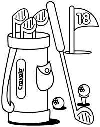 halloween coloring pages free golf printable coloring sheet