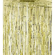 Gold Foil Curtain by Metallic Gold Foil Fringe Shiny Curtains For Party Prom Birthday