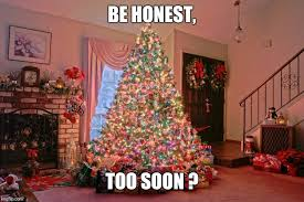 Christmas Tree Meme - 33 memes about being too soon for christmas decorations and music