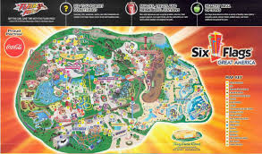 Where Is Six Flags America Six Flags Great America Park Map Image Gallery Within Six Flags