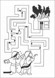 free fireman maze worksheet zawody firemen maze