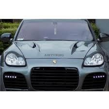 Porsche Cayenne 955 - porsche cayenne 955 eyebrows headlight spoiler set 2002 2007