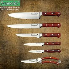 Stainless Steel Kitchen Knives Set by New Sunnecko 6pcs Kitchen Knife Set High Quality Chef Knife Tools
