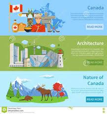 kanada fläche kanada reise informationen 3 flache fahnen vektor abbildung bild