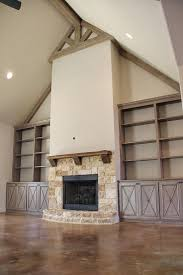 faux painted built in cabinetry u0026 vaulted ceiling beams photo