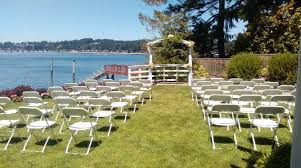 wedding venue island fox island s showcase chapel on echo bay