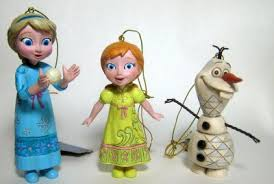 set of elsa and olaf ornaments from frozen jim shore