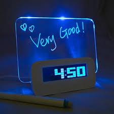 night light alarm clock led digital alarm clock memo message board alarm clock luminous