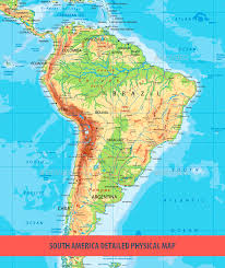 physical map of argentina south america detailed physical map by cartarium graphicriver