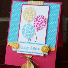 stamped balloon birthday card idea scraplifters
