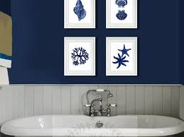 bathroom 99 coastal wall decor navy blue wall art set of beach
