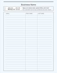 email email list template word sign up sheet template word best