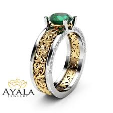rings emerald images Emerald engagement rings camellia jewelry jpg