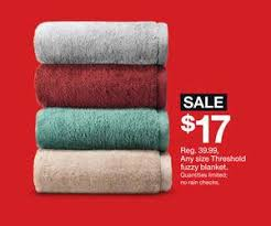 target black friday limited quanties any size threshold fuzzy blanket deal at target black friday sale