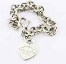vintage heart bracelet images Vintage tiffany co please return to heart tag bracelet queen may jpg