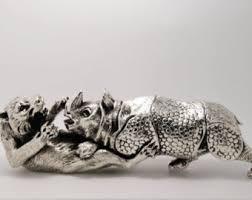 silver lion statue lion figure etsy