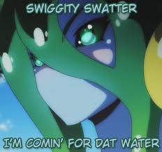 Swiggity Swag Meme - cumming for your water swiggity swag know your meme