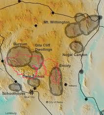 Mexico Volcano Map by Datil Mogollon Volcanic Field New Mexico Museum Of Natural