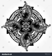 celtic concept tattoo tshirt design helm stock vector 700784572