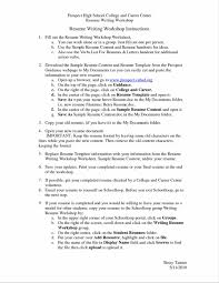 A Sample Of A Good Resume Example Of A Good Resume For A College Student Sample Resume123