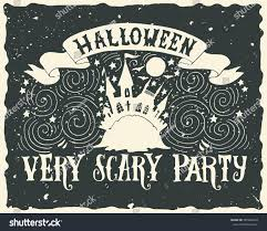 scary halloween lettering halloween grunge greeting card fairytale ghost stock vector