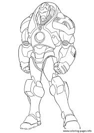 ironman mark 1 a4 avengers marvel coloring pages printable