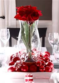 decorations beautiful rose in vase with sheeny marble ball