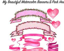 banners clipart set etsy