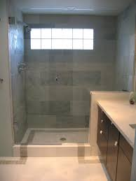 Bathroom Ceramic Tile Design Ideas The Clean Look Of The Large Blocky Tiles In This Shower Are