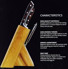 Furi Kitchen Knives Bergner Bayern Forged German Steel 8 Piece Kitchen Knife Set
