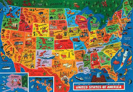 usa map jigsaw puzzle map usa jigsaw major tourist attractions maps