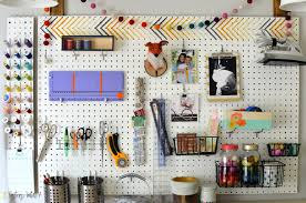 peg board craft room peg board craft storage tour sisters what