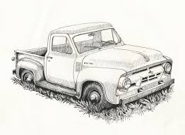 old cars drawings i saw this old ford pickup beside the road in west virginia this