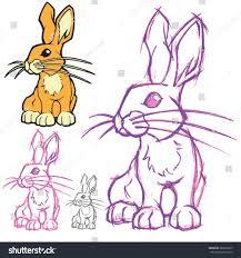 artistic vector sketch cute bunny rabbit stock vector 389292637
