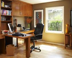 gentle modern work space with white accent color combined u shape