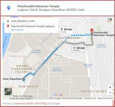 India Google Maps by Google Map And Address Is Created For Panchmukhi Hanuman Temple
