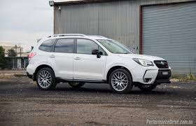 subaru forester lowered 2016 subaru forester ts sti review video performancedrive