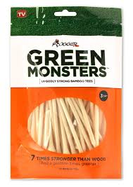 amazon com frogger golf green monsters 100 bamboo golf tees