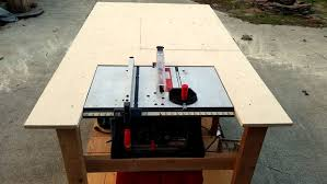 Bench Top Table Saws Mobile Workbench With Built In Table U0026 Miter Saws 8 Steps With
