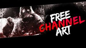 jongfx new gas mask channel art template free youtube banner