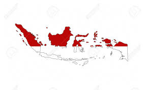 Black And Red Flag Country Indonesia Country Flag Map Shape National Symbol Stock Photo