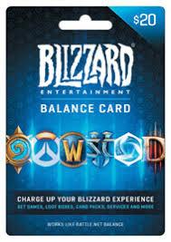 battlenet prepaid card blizzard balance 20 ecard digital for pc gamestop