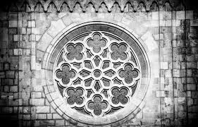 ornament church window black and white photograph by matthias hauser
