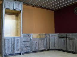 rustic wood kitchen cabinets reclaimed wood kitchen cabinets in weathered gray