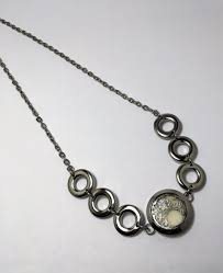 steel circles oil diffuser necklace essential oil jewelry