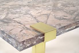 clasp coffee table ice resin lucite scala luxury