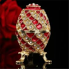 new arrive faberge egg house ornaments in bottles jars boxes from