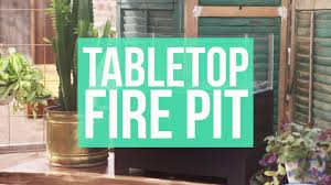 Tabletop Firepit by Diy Tabletop Fire Pit Youtube