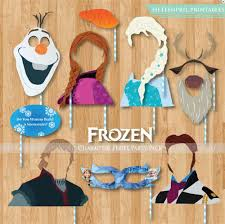 photo booth party props frozen characters party props printables pack photobooth party